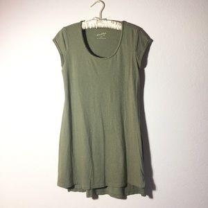 Mossy Green Boho Dress